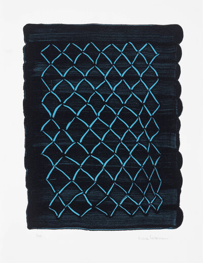 Mona Hatoum, 'Untitled (fence, blue) ', 2018