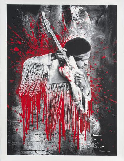 Mr. Brainwash, 'Jimi Hendrix (Red)', 2015