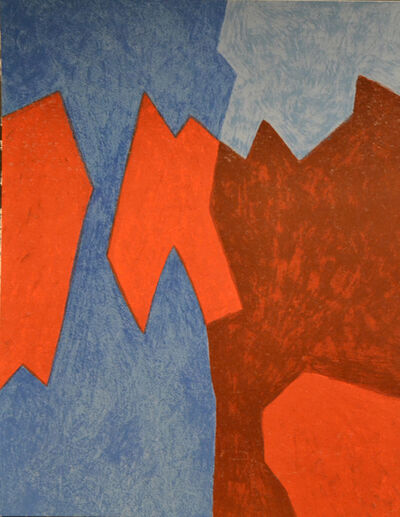 Serge Poliakoff, 'Blue And Red Composition', 1968