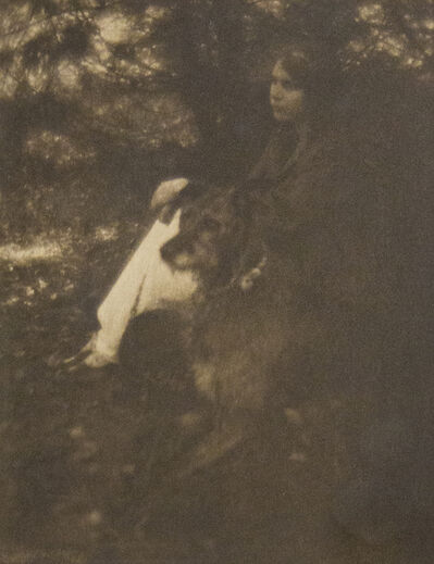 George Seeley, 'Woman with Dog ', 1880-1955