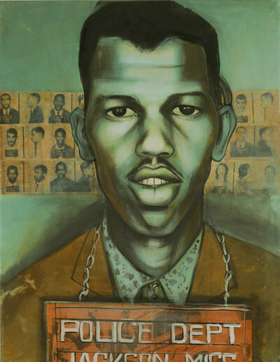 Charlotta Janssen, 'Earnest (Rip) Patton Jr (portrait) 21 yrs, from Nashville TN Arrested 5/24/1961 Jackson MS', 2011