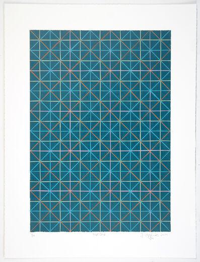 Jonathan K Higgins, 'Blue Grid', 2014