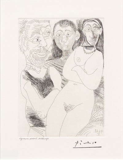 Pablo Picasso, 'Prostitutee et Marins, from the 347 Series', 1968