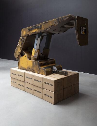 Simon Denny, 'Caterpillar Inc. semi-autonomous longwall coal mining roof support system cardboard display', 2019
