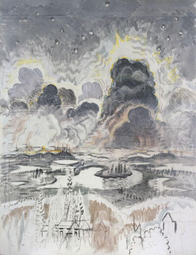 Charles Ephraim Burchfield, 'Heat Lightning (also known as Landscape with Gray Clouds)', ca. 1962