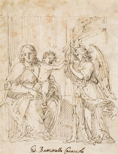 Giovanni Battista Caracciolo called Battistello, 'Virgin with Child and an angel carrying the cross', Early 17th century