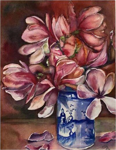 Carlos Giordano Giroldi, 'Magnolie in cinese vase', 2019