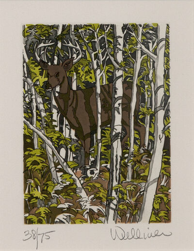 Neil G. Welliver, 'Deer', 1988