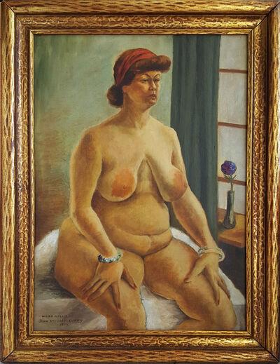 "John Steuart Curry, '""Hilda Nellis"", Rubenesque nude woman Full Figure Nude Regionalism', 1934"
