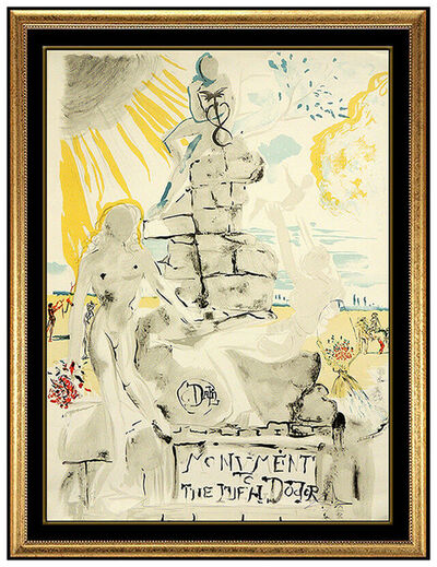 Salvador Dalí, 'Salvador Dali Monument To The Ideal Doctor Color Lithograph Hand Signed Artwork', 1973