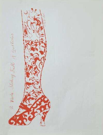 Andy Warhol, 'A Whole Stocking Full of Good Wishes', ca. 1956