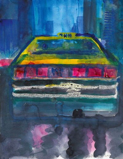 Rainer Fetting, 'N.Y. City Cab', 2000