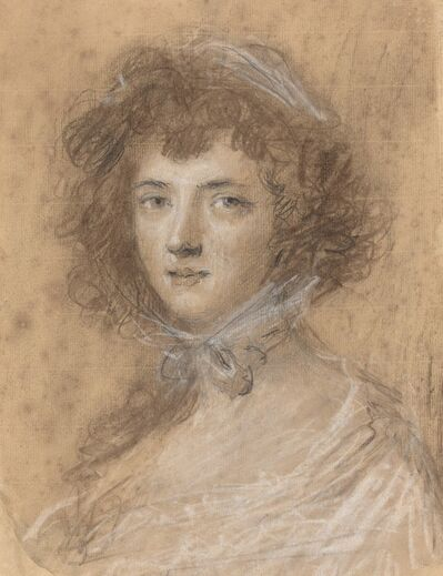 Joshua Reynolds, 'Head and Bust of a Woman'