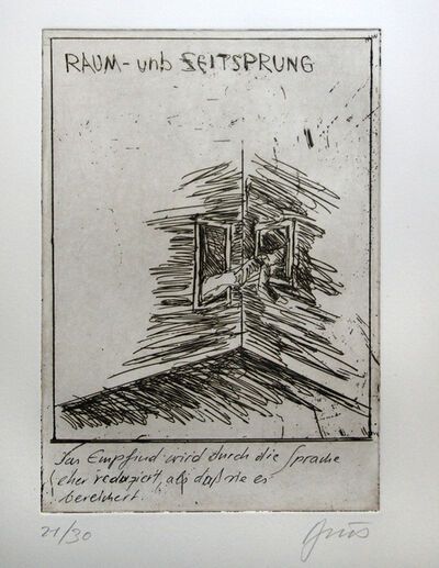 Günter Brus, 'kaspar hauser - a ten piece pictorial poem', 2008
