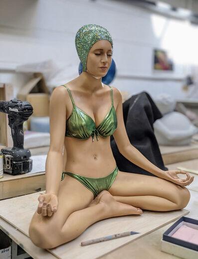 Carole A. Feuerman, 'Miniature Balance Green Suit and Green Swarovski Crystal Cap', 2020