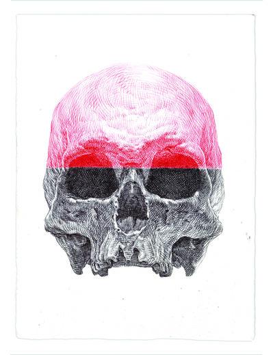 Guno Park, 'Red Cranium Skull', 2016