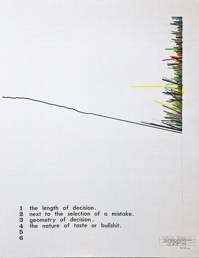 "Shusaku Arakawa, 'Natural History (""..geometry of decision/the nature of taste or bullshit."")', 1969-1972"