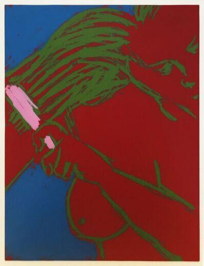 George Segal, 'WOMAN BRUSHING HER HAIR', 1965