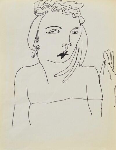Andy Warhol, 'Untitled (Female Portrait)', ca. 1954