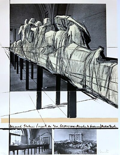 Christo, 'Wrapped Statues, (Project for Der Glyptotek in Munich Aegean Temple). Munich (Catalog: Schellmann & Benecke 135)', 1988