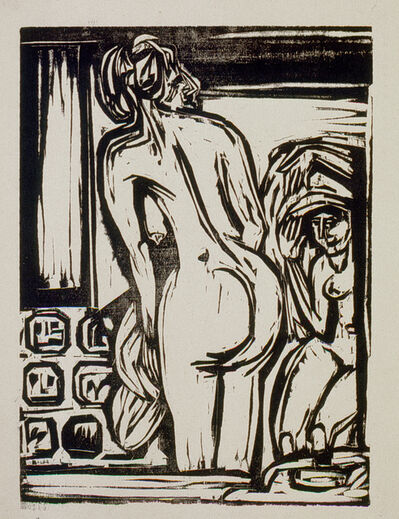 Ernst Ludwig Kirchner, 'Zwei badende Frauen (Two bathing Woman)', 1922
