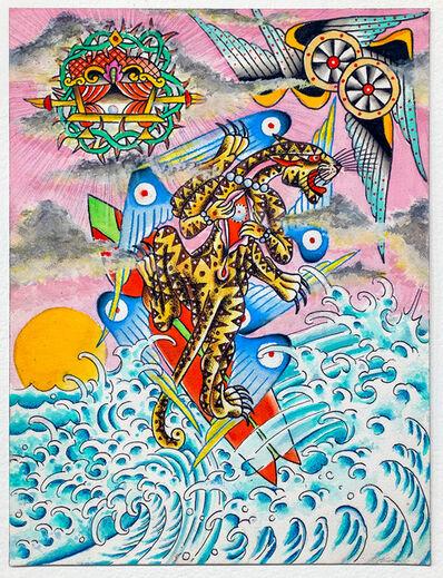 Salty Walt McDonald, 'Surfing Kau Yua, Terrestrial 2 Celestial', 2020