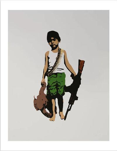 "Plastic Jesus, '""War Child"" – Stencil and Acrylic Print', 2017"
