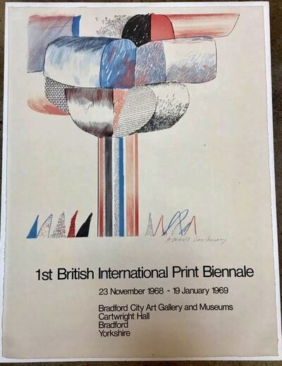 David Hockney, 'Hand Signed 1st British International Print Biennale', 1968