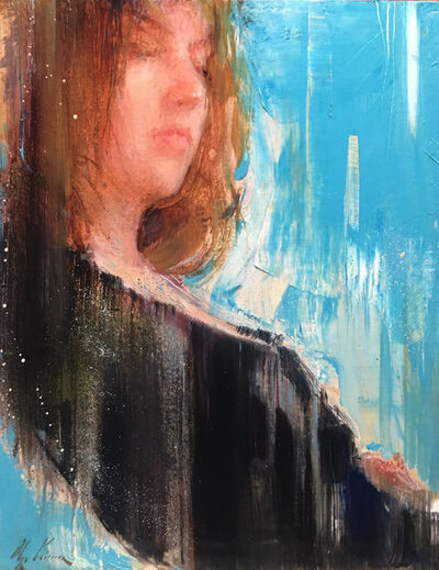 Olga Krimon, 'Abstraction with Blue and Black', 2019