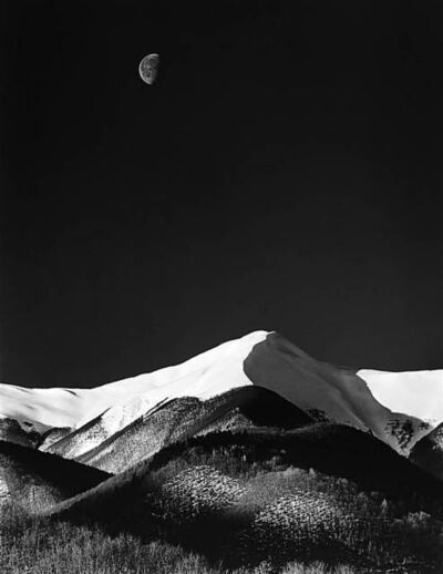 Antonio Biagiotti, 'Snow Covered Mountains and the Moon'