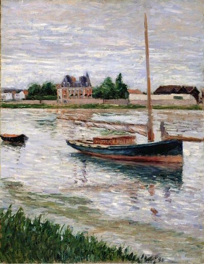Gustave Caillebotte, 'Sailboat Moored on the Seine, Argenteuil', ca. 1891