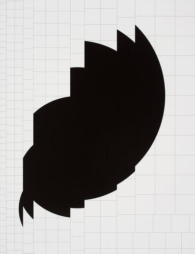 Attila Kovács, 'synthetischer kreis 1973 p22', 1973-1974