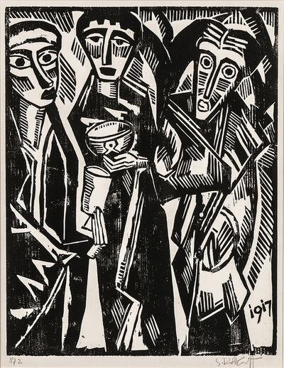 Karl Schmidt-Rottluff, 'Die heiligen drei Könige', 1917