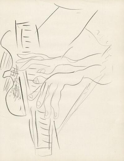 Ceri Richards, 'Hands Playing Piano Study', ca. 1971