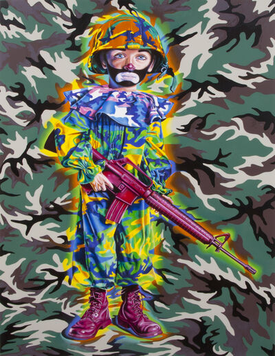 Ron English, 'Camo Tramp Boy', 2008