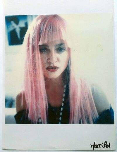Maripol, 'Madonna in a pink wig', 1985