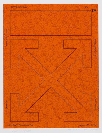 Takashi Murakami, 'Memento Mori Fluorescent Orange', 2018