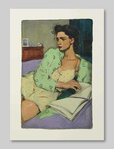 Malcolm T. Liepke, 'Reading in Bed', 2001