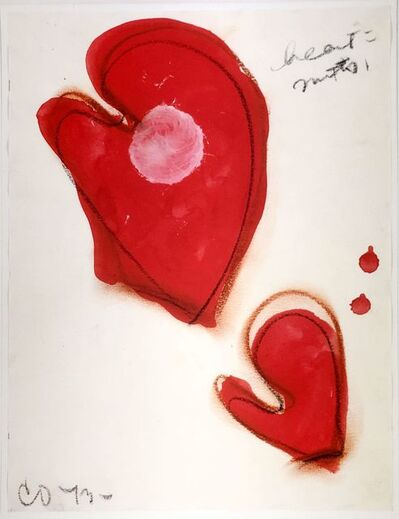Claes Oldenburg, 'Valentine (Hearts equals Mitts)', 1973
