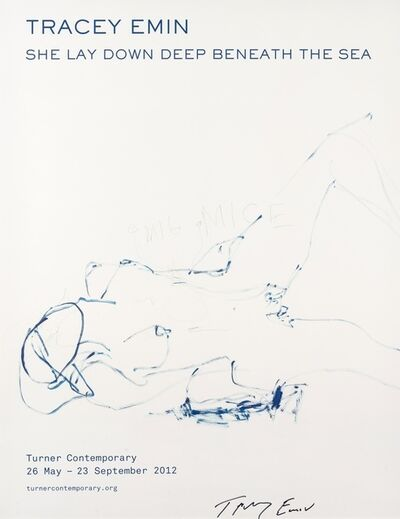 "Tracey Emin, '""SHE LAY DOWN DEEP BENEATH THE SEA"" HS EDITION', 2012"