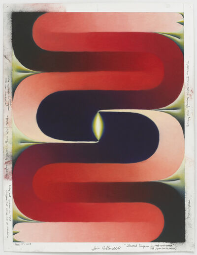 Loie Hollowell, 'Stacked Lingam (red, green, purple, brown)', November 15-2017