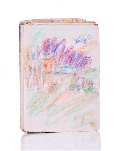 Purvis Young, 'Purvis Young Original Signed Crayon and Ink Truck Drawing on Paper Art', 1990-2010