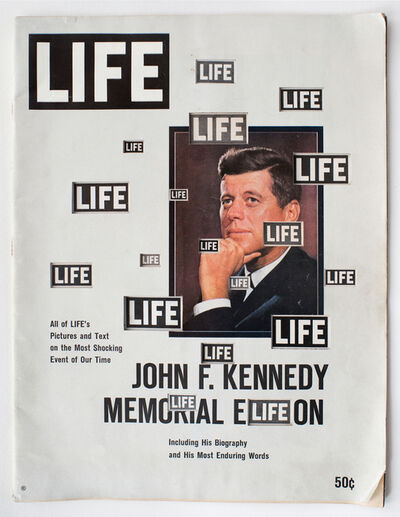 Dennis Koch, 'LIFE  Cutout  No.  119  (December  14,  1963,  LIFE  B/W  JFK)', 2018
