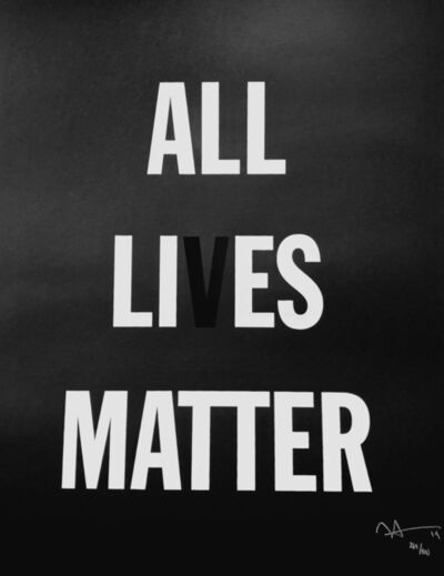 Hank Willis Thomas, 'ALL LI ES MATTER', 2019