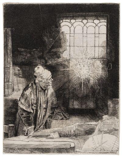 Rembrandt van Rijn, 'A Scholar in his Study ('Faust')', 1652