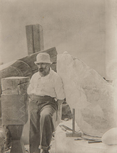 Constantin Brâncuși, 'Self-Portrait in His Studio', circa 1921