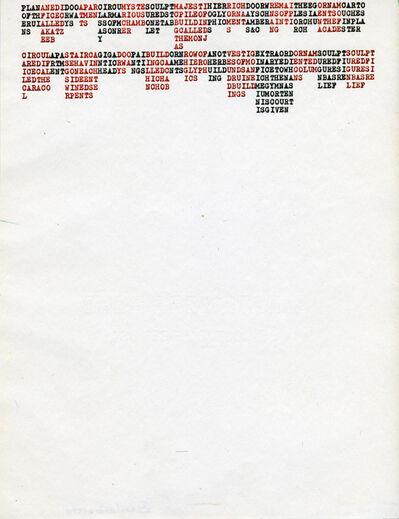 Carl Andre, 'PLANANEDIDOOAPARCIRCUMYSTESLULPTMAYESTIHIERRICHDOORWREMAITHEEGORNAMCARTOYUCATAN', 1972