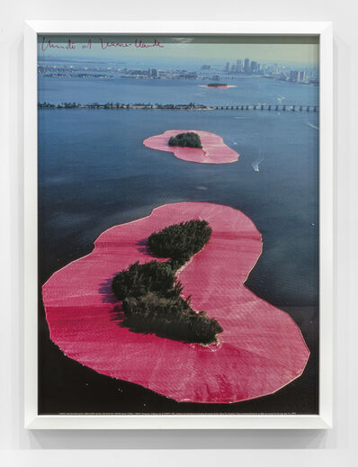 Christo, 'Surrounded Islands, Biscayne Bay (vertical)', 1983