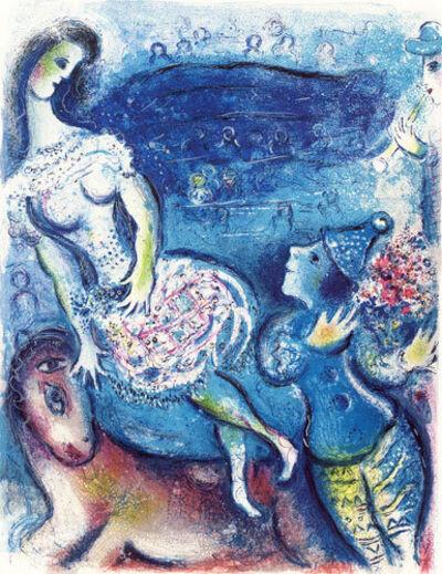 Marc Chagall, 'Woman Circus Rider and Amorous Clown', 1967