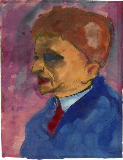 Emil Nolde, 'Männliches Portrait (Vermutlich Max Sauerlandt)', ca. 1920